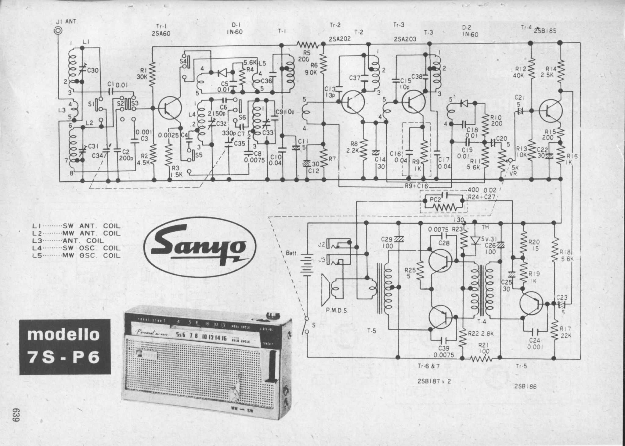 Transistor Diagrams F M Receiver Circuit Diagram Free Sanyo Mod 7s P6